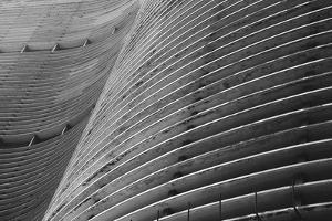 Modernist Brazilian Architecture Curved Concrete Background Sao Paulo Brazil by LazyLlama