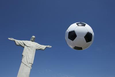 Soccer Ball Football At Corcovado Rio De Janeiro by LazyLlama