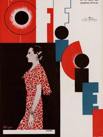 L'Officiel, March 1934 - Chanel by Lbengini & A.P. Covillot