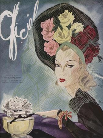 L'Officiel, February 1943 - Chapeau de Paulette, Bijou de Van Cleef et Arpels by Lbenigni