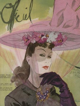 L'Officiel, March 1943 - Chapeau de Jacques Path, Paille de G.R. Pierron
