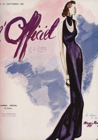 L'Officiel, September 1936 - Flamme Bleue Création Maggy Rouff