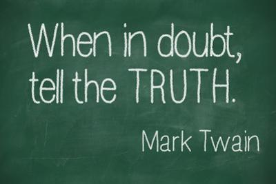 When in Doubt, Tell the Truth by lculig