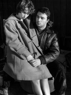 Le beau Serge by Claude Chabrol with Bernadette Lafont and Gerard Bla 1959 (b/w photo)