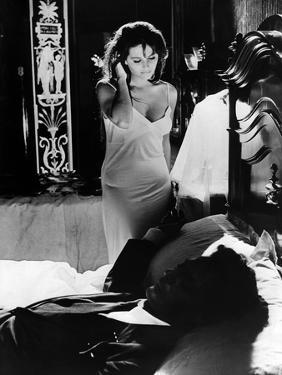 Le Bel Antonio by MauroBolognini with Claudia Cardinale and Marcello Mastroianni, 1960 (b/w photo)