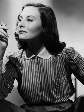 Le Chateau by verre (THE GLASS CASTLE) by Rene Clement with Michele Morgan, 1950 (b/w photo)