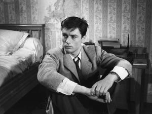Le chemin des ecoliers by Michel Boisrond with Alain Delon, 1959 (b/w photo)