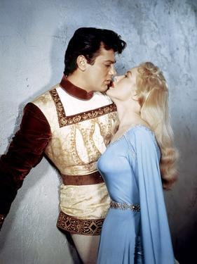 Le Chevalier du Roi BLACK SHIELD OF FALWORTH Rudolph Mate with Tony Curtis and Janet Leigh, 1954 (p