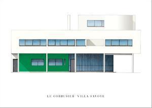 Villa Savoye, Paris by Le Corbusier