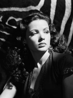 Le Crepuscule SUNDOWN by HenryHathaway with Gene Tierney, 1941 (b/w photo)