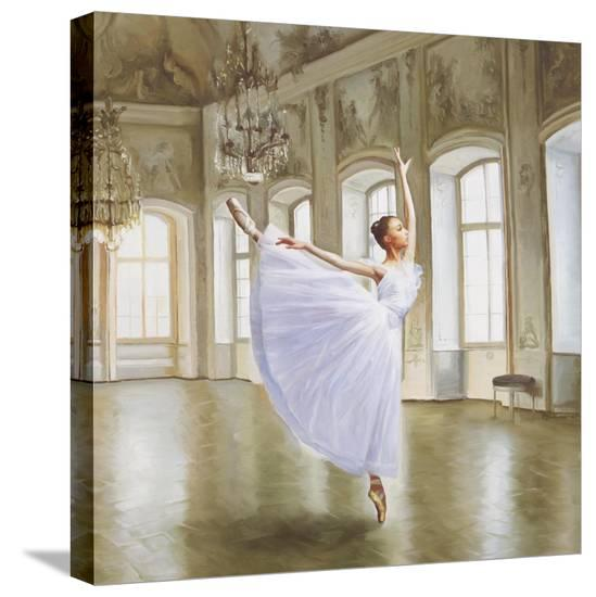 Le Grand Salon II (detail)-Pierre Benson-Stretched Canvas Print