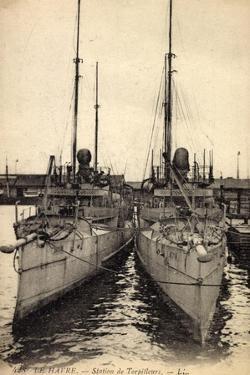 Le Havre, Station Des Torpilleurs, Fr. Kriegsschiffe