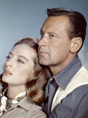Le Lion (The Lion) by Jack Cardiff with Capucine and William Holden, 1962 (photo)