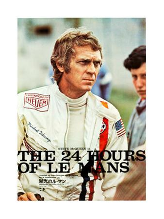 Le Mans, Steve McQueen on Japanese poster art, 1971