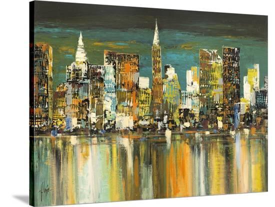 Le mille luci di New York-Luigi Florio-Stretched Canvas Print