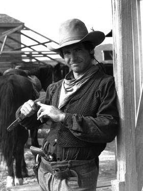 Le Rabbin au Far West THE FRISCO KID by Robert Aldrich with Harrison Ford, 1979 (b/w photo)