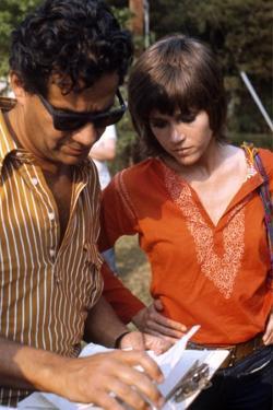 Le realisateur Alan Pakula and Jane Fonda sur le tournage du film Klute en, 1971 (photo)