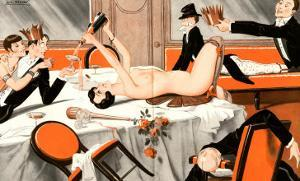 Le Sourire, Erotica Drunks Orgies Champagne Party Magazine, France, 1920