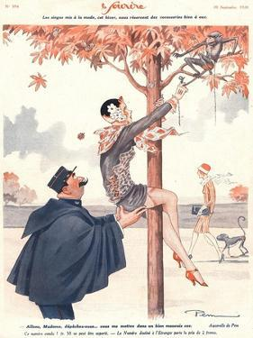 Le Sourire, Glamour Erotica Police Climbing Trees Magazine, France, 1920