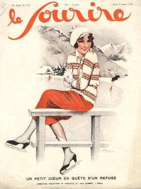 Le Sourire, Ice Skating, Winter Sport Magazine, France, 1930