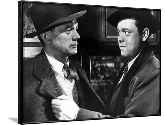 Le Troisieme Homme THE THIRD MAN by Carol Reed with Joseph Cotten and Orson Welles, 1949 (b/w photo--Framed Photo