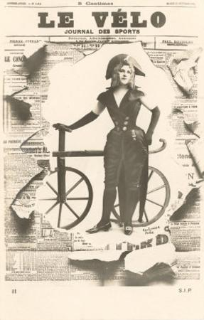 Le Velo, Girl with Wooden Bicycle