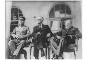 Leaders of World War 2 (Winston Churchill, Franklin Delano Roosevelt, Joseph Stalin) Art Poster Pri