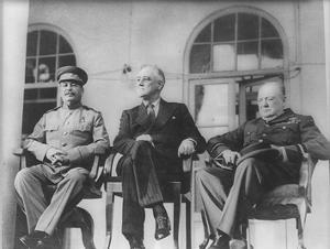 Leaders of World War 2 (Winston Churchill, Franklin Delano Roosevelt, Joseph Stalin) Art Poster Pri