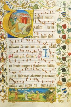 Leaf from Antiphonary for Elisabeth Von Gemmingen, C. 1504