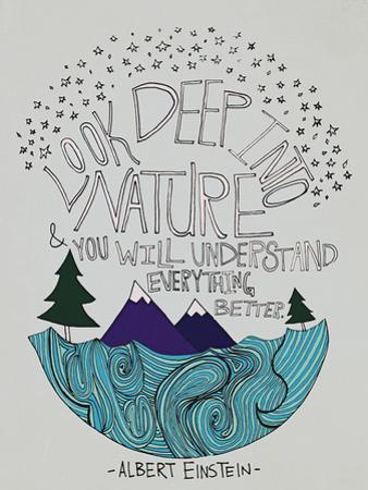 Einstein Nature by Leah Flores