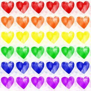 Rainbow Hearts by Leah Flores