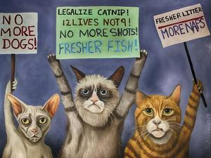 Cats on Strike by Leah Saulnier