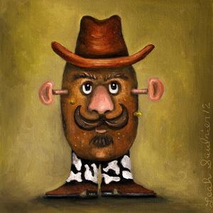 Cowboy Potato Head by Leah Saulnier