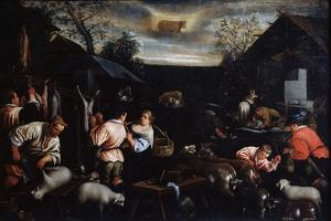 April' (From the Series 'The Seasons), Late 16th or Early 17th Century by Leandro Bassano