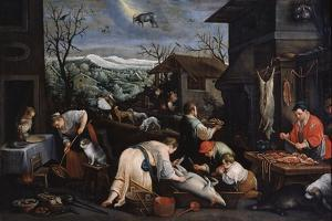 December (From the Series 'The Seasons), Late 16th or Early 17th Century by Leandro Bassano