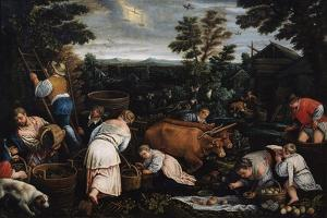 September (From the Series the Seasons), Late 16th or Early 17th Century by Leandro Bassano