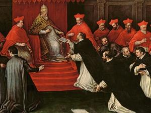 Pope Honorius III (1148-1227) Approving the Order of St. Dominic in 1216 (Detail) by Leandro Da Ponte Bassano