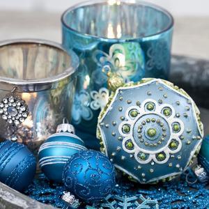 Blue Christmas - Square by Lebens Art
