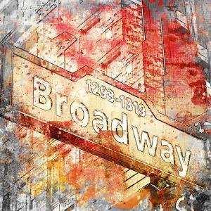 Broadway - Square 2 by Lebens Art