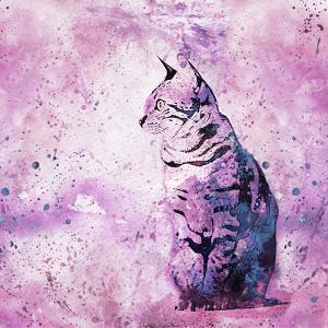 Cat - Square by Lebens Art