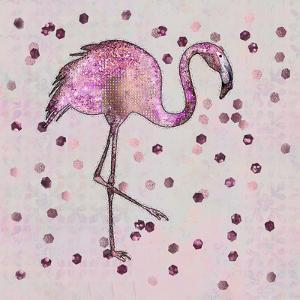Glamorous Flamingo by Lebens Art