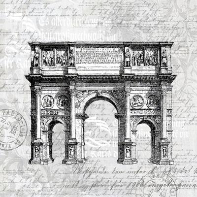 Grey Arc De Triomphe by Lebens Art