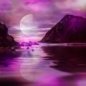Landscape Surreal Purple by Lebens Art