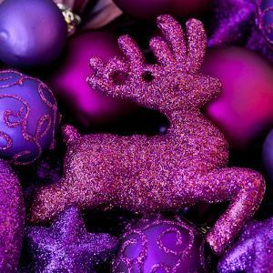 Pink Glitter Deer - Square by Lebens Art