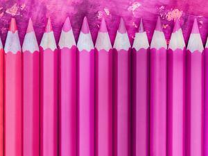 Pink Pencils 2 by Lebens Art
