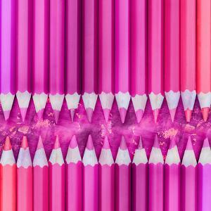 Pink Pencils - Square by Lebens Art