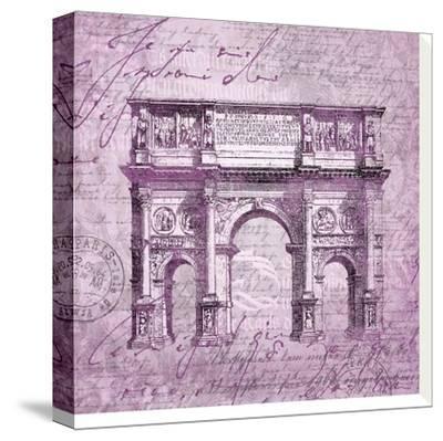 Purple Arc De Triomphe by Lebens Art