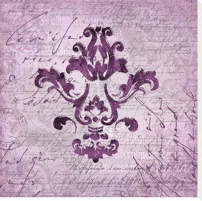 Purple Baroque Ornament by Lebens Art