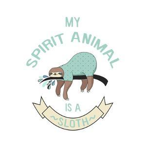 Sloth Spirit Animal by Lebens Art