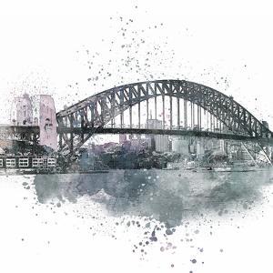 Sydney Harbor Bridge 2 - Square by Lebens Art